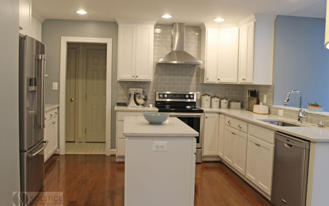 White & Gray Kitchen in Crofton