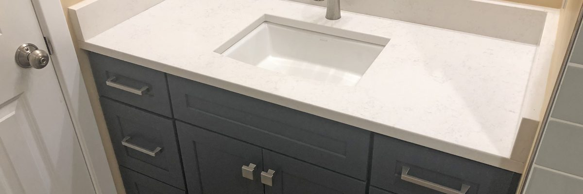 vanity with undermount sink